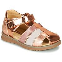 Sko Pige Sandaler Citrouille et Compagnie FRINOUI Bronze / Pink