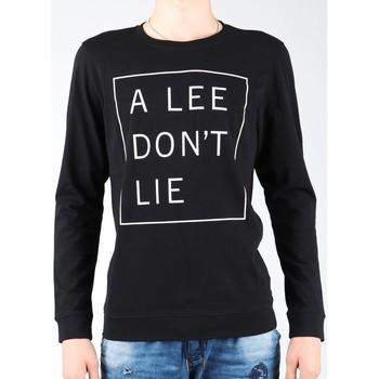 textil Herre Langærmede T-shirts Lee Don`t Lie Tee LS L65VEQ01 black, white