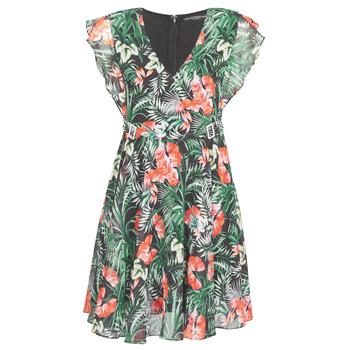 textil Dame Korte kjoler Guess EULALIA DRESS Sort / Grøn