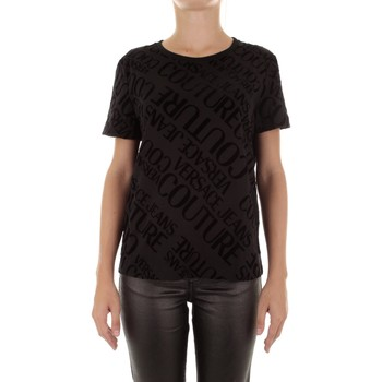 textil Dame T-shirts m. korte ærmer Versace B2HUB728 Nero