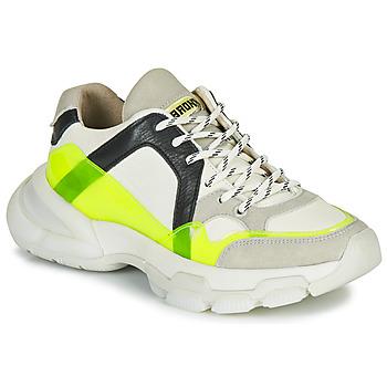 Sko Dame Lave sneakers Bronx SEVENTY STREET Hvid / Gul