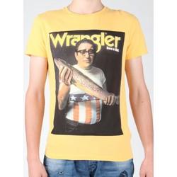 textil Herre T-shirts m. korte ærmer Wrangler T-shirt  S/S Graphic T W7931EFNG yellow