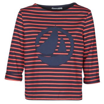 textil Dame Toppe / Bluser Petit Bateau  Rød / Marineblå
