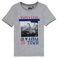 textil Pige T-shirts m. korte ærmer Ikks AMELIE Grå / Marmoreret