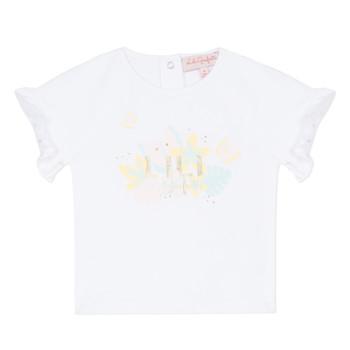 textil Pige T-shirts m. korte ærmer Lili Gaufrette NALIS Hvid