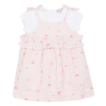 textil Pige Korte kjoler Lili Gaufrette NAZETTE Pink