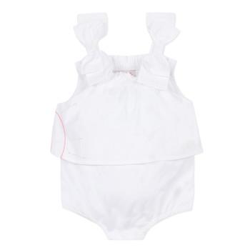 textil Pige Buksedragter / Overalls Lili Gaufrette NOLENI Hvid