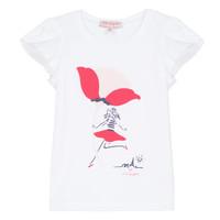 textil Pige T-shirts m. korte ærmer Lili Gaufrette KATINE Hvid