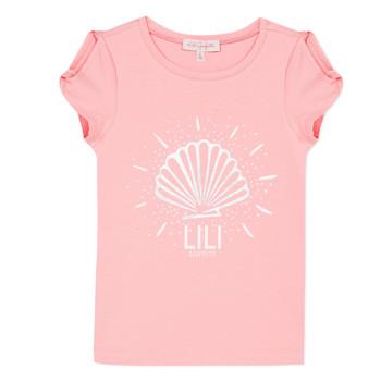 textil Pige T-shirts m. korte ærmer Lili Gaufrette KATIA Blush