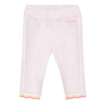 textil Pige Lærredsbukser Lili Gaufrette DIM. Pink
