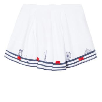 textil Pige Nederdele Lili Gaufrette MAYA Hvid