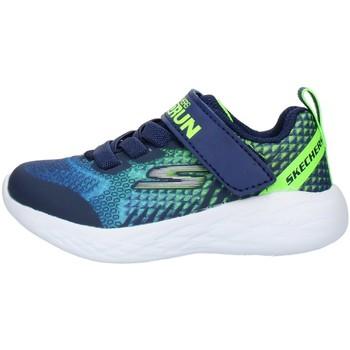 Sko Børn Lave sneakers Skechers 97858N Blue Lime