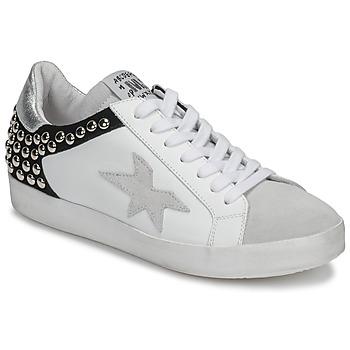 Sko Dame Lave sneakers Meline GELLABELLE Hvid / Sort