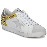 Sko Dame Lave sneakers Meline GELLABELLE Hvid / Sennep
