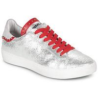 Sko Dame Lave sneakers Meline GARILOU Sølv / Rød