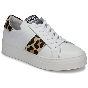 Sko Dame Lave sneakers Meline GETSET Hvid / Leopard
