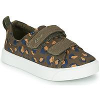 Sko Pige Lave sneakers Clarks CITY BRIGHT T Kaki