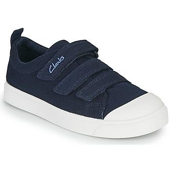 Sko Børn Lave sneakers Clarks CITY VIBE K Marineblå