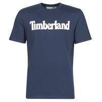 textil Herre T-shirts m. korte ærmer Timberland SS KENNEBEC RIVER BRAND LINEAR TEE Marineblå