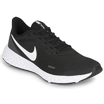Sko Herre Løbesko Nike REVOLUTION 5 Sort / Hvid