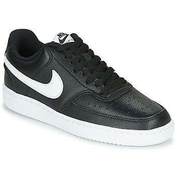 Sko Dame Lave sneakers Nike COURT VISION LOW Sort / Hvid