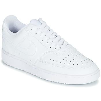 Sko Dame Lave sneakers Nike COURT VISION LOW Hvid