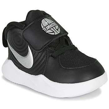 Sko Børn Multisportsko Nike TEAM HUSTLE D 9 TD Sort / Sølv