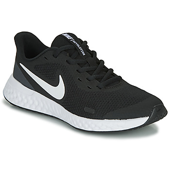 Sko Børn Lave sneakers Nike REVOLUTION 5 GS Sort / Hvid
