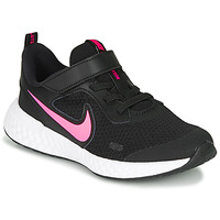 Sko Pige Multisportsko Nike REVOLUTION 5 PS Sort / Pink
