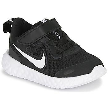 Sko Børn Lave sneakers Nike REVOLUTION 5 TD Sort / Hvid