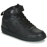 Sko Børn Høje sneakers Nike COURT BOROUGH MID 2 GS Sort