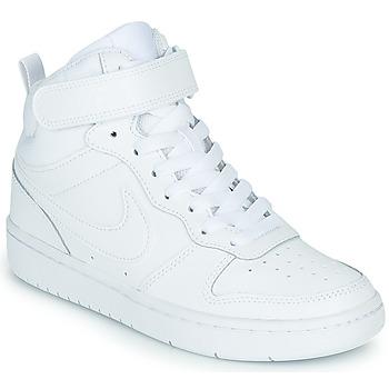 Sko Børn Høje sneakers Nike COURT BOROUGH MID 2 GS Hvid