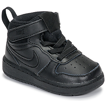 Sko Børn Lave sneakers Nike COURT BOROUGH MID 2 TD Sort