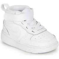 Sko Børn Lave sneakers Nike COURT BOROUGH MID 2 TD Hvid