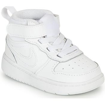 Sko Børn Høje sneakers Nike COURT BOROUGH MID 2 TD Hvid