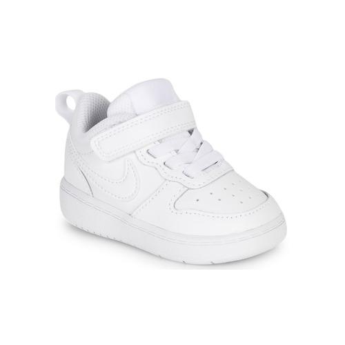 Sko Børn Lave sneakers Nike COURT BOROUGH LOW 2 TD Hvid