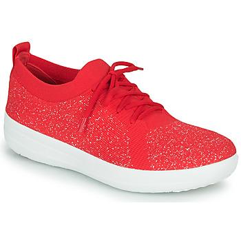Sko Dame Lave sneakers FitFlop F-SPORTY UBERKNIT SNEAKERS Rød