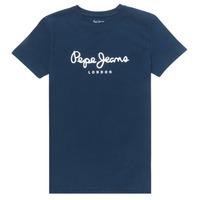 textil Dreng T-shirts m. korte ærmer Pepe jeans ART Marineblå