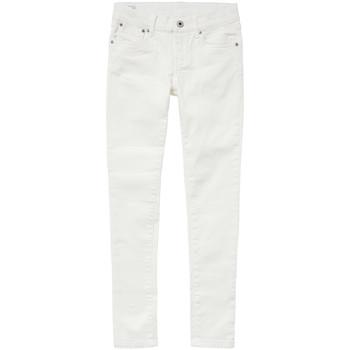 textil Pige Jeans - skinny Pepe jeans PIXLETTE Hvid