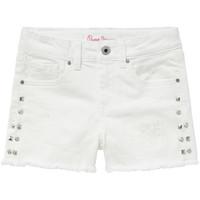 textil Pige Shorts Pepe jeans ELSY Hvid