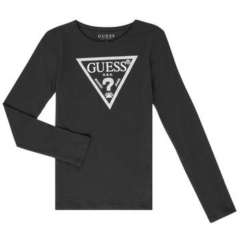 textil Pige Langærmede T-shirts Guess GARICE Sort