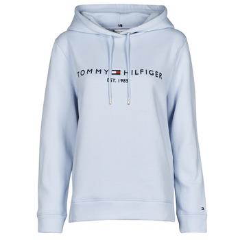 textil Dame Sweatshirts Tommy Hilfiger TH ESS HILFIGER HOODIE LS Blå / Himmelblå
