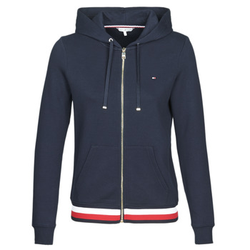 textil Dame Sweatshirts Tommy Hilfiger HERITAGE ZIP THROUGH HOODIE Marineblå