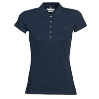 textil Dame Polo-t-shirts m. korte ærmer Tommy Hilfiger HERITAGE SS SLIM POLO Marineblå