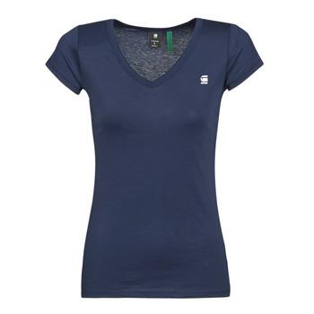 textil Dame T-shirts m. korte ærmer G-Star Raw EYBEN SLIM V T WMN SS Blå