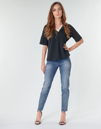 textil Dame Lige jeans G-Star Raw 3301 HIGH STRAIGHT 90'S ANKLE WMN Blå