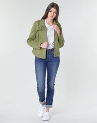 textil Dame Lige jeans G-Star Raw MIDGE MID STRAIGHT WMN Kaki