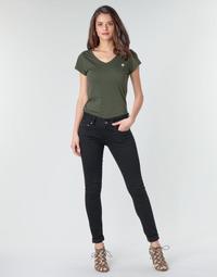 textil Dame Jeans - skinny G-Star Raw Midge Cody Mid Skinny Wmn Pitch / Sort