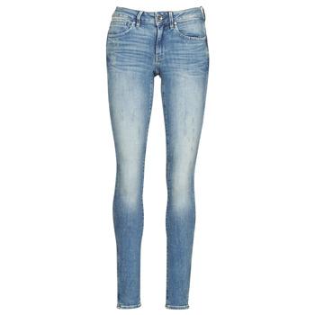 textil Dame Jeans - skinny G-Star Raw MIDGE ZIP MID SKINNY WMN Blå