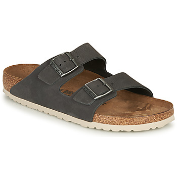 Sko Herre Tøfler Birkenstock ARIZONA LEATHER Grå / Mørk